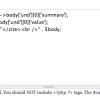 Ottieni più controllo sull'output usando PHP
