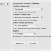 Impostazioni del formato Colorbox