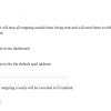 Pagina di configurazione di Mail Safety
